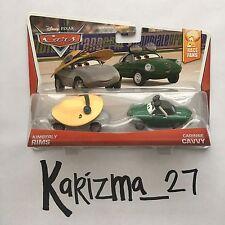 Sealed 2 Pack Disney Pixar Cars Race Fans Kimberly Rims 5/9 Carinne Cavvy 6/9