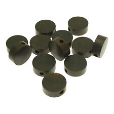 10 Round Disc Polish Rose Wood Beads size 15mm ideal for Jewellery Making