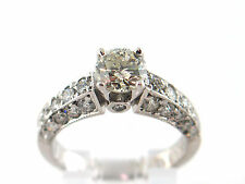 2.23 CT Natural Diamond Lady's Engagement Ring SI1/H 14K White Gold