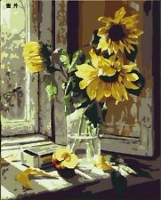 Framed Acrylic Paint by Numbers kit 50x40cm(20x16'') the Sunflowers DIY HL7001