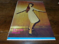 GILLIAN HILLS - Mini Poster !!!! !!! VINTAGE !!!