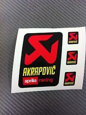 4 Adesivi Stickers AKRAPOVIC Aprilia Racing resistente al calore
