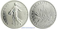 1  FRANC  SEMEUSE   1981   ,       FLEUR  DE  COIN