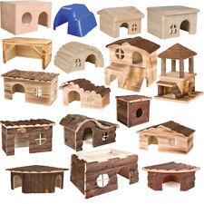 TRIXIE  Kunststoffhaus Holzhaus  für Nagetiere Kleintiere Haus aus Naturmaterial