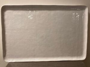 Crate & Barrel Mercer White Rectangle Platter