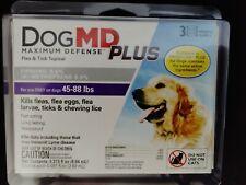 DogMd Plus Maximum Defense Dog 45-88 lbs Flea Eggs Lice & Ticks Topical Fipronil