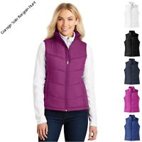 Ladies Womens Puffer Vest Jacket Sleeveless Quilted Padded Winter Vest XS-4XL