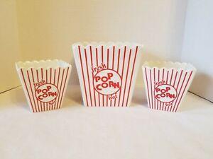 """Sur La Table Ceramic """"Fresh Hot Pop Corn"""" Novelty Serving Container Set"""