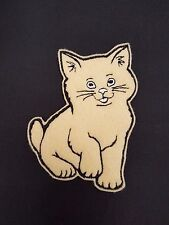 Cute Cat Embroidered Patch Badge Iron on or sew