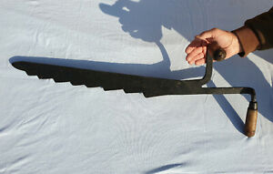 Antique Victorian wrought Iron Large Hay Knife