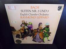 Raymond Leppard Bach Suiten Nr 2 und 3 LP Philips Holland import VG+ in shrink