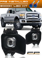 LED 2011-2016 Ford F250 F350 F450 SuperDuty Model Clear Fog Lights Complete Kit