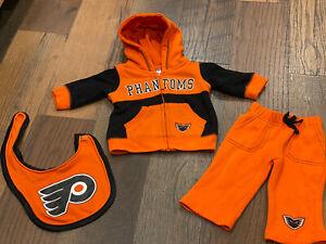 Lehigh Valley Phantoms (Philadelphia Flyers) 2 Piece Hoodie/Pants Outfit 3-6 Mo