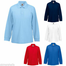 Girls' Collared Long Sleeve Sleeve Cotton Blend T-Shirts, Top & Shirts (2-16 Years)