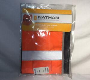 Nathan Reflective Safety Vest Orange Silver One Size NEW