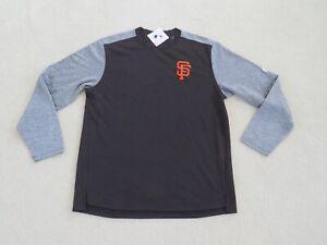 Majestic Authentic MLB San Francisco GIANTS Stitch Lite L/S Fleece Men M NEW^
