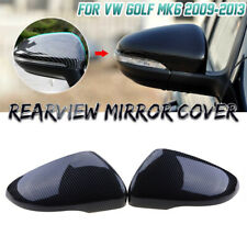 For Volkswagen VW Golf 6 MK6 GTI Carbon Fiber Rear Mirror Cover Add On Style