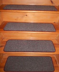 "13  Step  9'' x 30'' + 1 Landing 28"" x 30"" Woven Nylon Carpet Stair Treads"