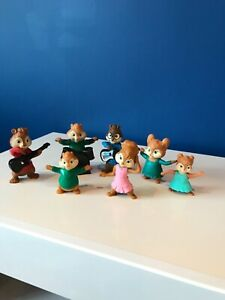 McDonalds Happy Meal Toys Alvin & the Chipmunks Eleanor, Record Deck, Drummer