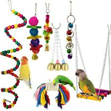 7X  Parrot Hanging Swing Bird Cage Toys Parakeet Cockatiel Budgie Harness Toys