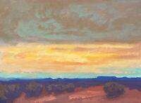 Western Art Santa Fe Original Oil Painting Impressionist tonalism New Mexico