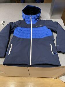 Columbia White Horizion Hybrid Omniheat Ski Jacket And Ski Trousers Size Medium