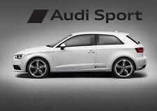 2 adesivi logo audi sport sticker side fiancate A1 A3 A4 A5 A6 Q3 Q5 Q7 S1 S3 S5