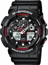 Casio G-Shock GA100-1A4 Red Black Analog/Digital Men's Watch