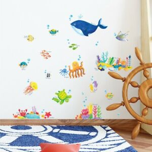 Decowall DS-8027 Under The Sea Kids Nursery Removable Wall Stickers Decals