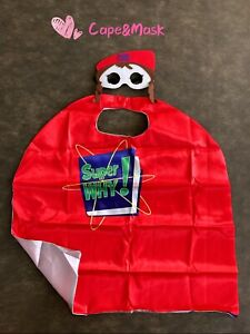 Super Why inspired cape and mask, SuperWhy Birthday Party Favors,Whyatt Costume