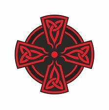 1x CELTIC RED CROSS VINYL STICKER DECAL RELIGIOUS CAR BUMPER LAPTOP TABLET PC