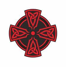 1x Celta Cruz Roja pegatina de vinilo calcomanía religiosa coche