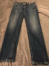 Miss Me Jeans Co- Straight Cut, Dark Wash Jeans- Inseam 31