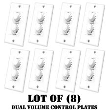 Lot of (8) Pyle PVCD15 In-Wall Two Speaker Dual Knob Independent Volume Control