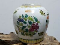 Fine Chinese  Porcelain Famille Rose  Gilt Bronze Brush Washer