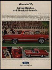 1967 FORD FAIRLANE RANCHERO Truck - Car - Thunderbird Thunder - VINTAGE AD