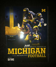 2019 Michigan Wolverines vs Michigan State And Notre Dame Football Program