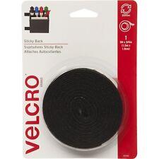 """Velcro Sticky Back 5 FT Black Tape 5' X 3/4"""" for Everyday Use 90086"""