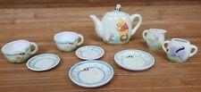 Midwest Cannon Falls Disney Pooh Child's Porcelain Tea 10 Piece Set Sugar Cream