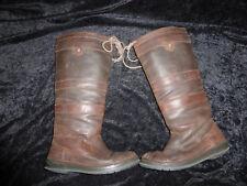 Dubarry abgelatschte getragene Stiefel gr.42 Well worn trashed boots
