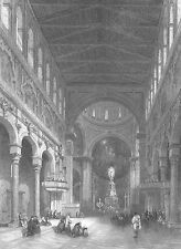 SICILY Italy, MESSINA CATHEDRAL CHURCH DUOMO ~ Antique 1840 Art Print Engraving
