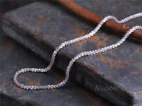 Silberkette mit Anhänger Glänzend Kurz Schlicht Halskette Damen 925 Silber