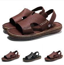Fashion Men's Roma Gladiator Flats Peep Toe Sandals Sports Leather Casual Shoes