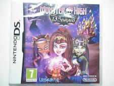 Monster High 13 Souhaits Jeu Vidéo Nintendo DS
