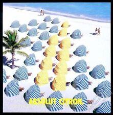 2001 Absolut Citron vodka bottle beach shade chair photo vintage print ad