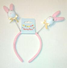 Bunny boppers cerchietto Coniglio Rosa Bianco Copertura Feltro Wire Spring GIALLO Fiocchi Kids