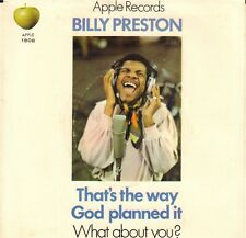 "BILLY PRESTON ‎– That's The Way God Planned It (1971 US APPLE VINYL SINGLE 7"")"