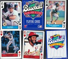 Lot 10 1990 U.S. Playing Cards Unopened decks of 52 cards Major League All Stars