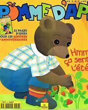 Pomme D'Api * n° 412 * 06 2000 revue enfant  magazine enfant choupignon plume