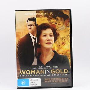 Woman In Gold Helen Mirren DVD R4 Movie PAL Good Condition